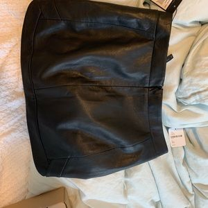 brand new BCBG leather skirt